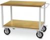 Fahrbarer Arbeitstisch, 1x Fachboden Buche Multiplex 25 mm