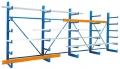 Kragarmregal Anbauregal Doppelseitig mit 12 x angeschweissten Armen 500 mm