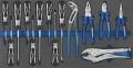 Werkzeugeinsatz,  Inlett zweifarbig schwarz/blau