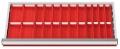 Muldenplatten 32-teilig für R 24-12 für Schubladennutzmaß innen 600 x 300 mm und Blendenhöhe 50 mm