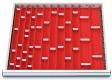 Muldenplatten 56-teilig für R 24-24 für Schubladennutzmaß innen 600 x 600 mm und Blendenhöhen 50 und 75 mm