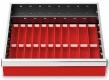 Muldenplatten 29-teilig für R 18-16 für Schubladennutzmaß innen 450 x 400 mm und Blendenhöhe 100 mm