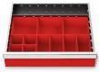 Kleinteilekästen 12-teilig für R 18-16 für Schubladennutzmaß innen 450 x 400 mm und Blendenhöhe 75 mm