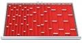 Muldenplatten 71-teilig für R 36-24 für Schubladennutzmaß innen 900 x 600 mm und Blendenhöhen 50 und 75 mm
