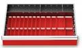 Muldenplatten 37-teilig für R 24-16 für Schubladennutzmaß innen 600 x 400 mm und Blendenhöhe 100 mm