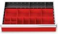 Kleinteilekästen 16-teilig für R 24-16 für Schubladennutzmaß innen 600 x 400 mm und Blendenhöhe 100 mm