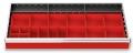 Kleinteilekästen 20-teilig für R 36-16 für Schubladennutzmaß innen 900 x 400 mm und Blendenhöhe 100 mm