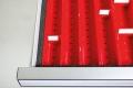 Distanzleisten für Kleinteilekästen für Schubladennutzmaß innen 900 x 600 mm und Blendenhöhe 50 mm