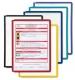 Sichttafeln mit voll umlaufendem farbigen Profilrahmen