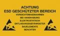 Warnschilder für ESD-Arbeitsplätze, Selbstklebend