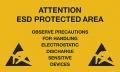 Warnschilder für ESD-Arbeitsplätze, Kunststoffschild